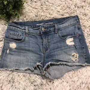 Old Navy cutoff denim boyfriend shorts - size 4